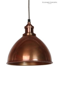 Domed Moderne Prohibition Pendant