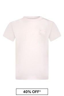 Dolce & Gabbana Kids Baby Girls Pink Cotton T-Shirt