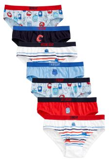 Days Of The Week Monster Briefs Seven Pack (1.5-8yrs)