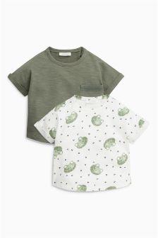 青蛙图案短袖T恤两件装 (0个月-2岁)