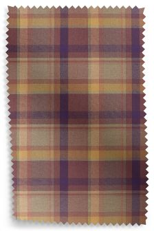 Kingsley Woven Check Curtain Fabric Sample