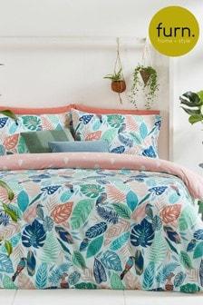 Furn White Guava Duvet Cover and Pillowcase Set