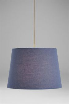 Buy ceiling lights blue lamp shades lampshades ceilinglights from easy fit cotton shade aloadofball Image collections