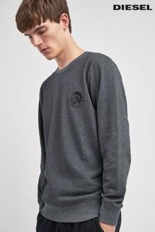 Diesel® Grey Logo Crew Neck Sweater