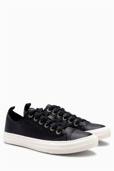 Baseball Lace-Up Trainers