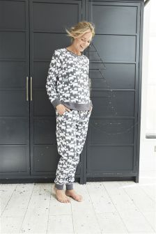 Print Cotton Pyjamas (Womens)