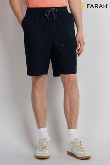 Farah True Navy Ibiza Canvas Cargo Short