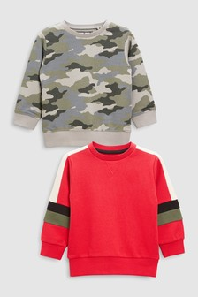 Colourblock Crews Two Pack (3mths-6yrs)