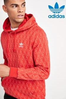 adidas Originals Red Monogram Pullover Hoody
