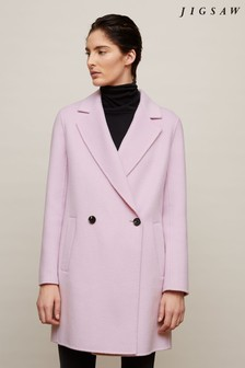 Jigsaw Purple Double Face Coat