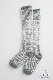 Seasalt Grey Fluffies Long Socks
