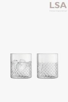 Set of 2 LSA International Wicker Tumbler Glasses