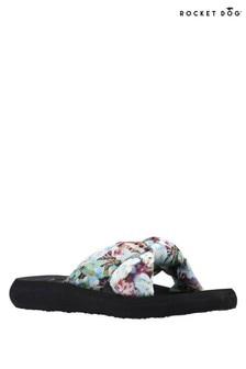 Rocket Dog Blue Slade Ocali Digi Floral Fabric Sandals