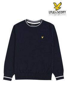 Lyle & Scott Tipped Rib Crew Neck Knitted Jumper