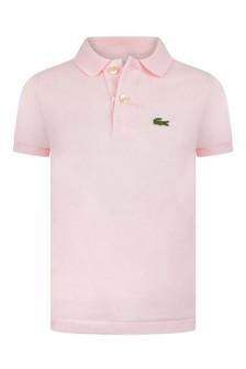 Boys Pale Pink Polo Top
