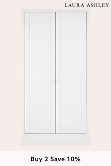 Ashwell Cotton White 2 Door Wardrobe by Laura Ashley