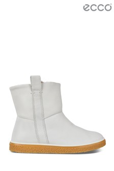 Ecco White Pull-On Boot
