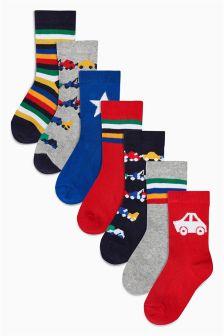 Bright Transport Socks Seven Pack (Younger)