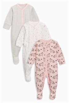 Unicorn Sleepsuits Three Pack (0mths-2yrs)