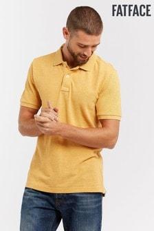 FatFace Yellow Linton Organic Pique Polo