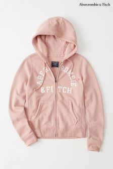 Abercrombie & Fitch Pink Logo Zip Hoody