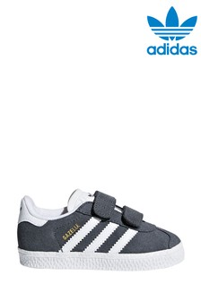 adidas Originals Grey/White Gazelle Infant Trainers