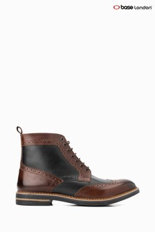 Base London® Brown Banner Burnished Lace-Up Boots