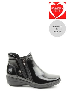 Heavenly Feet Black Ladies Ankle Boots