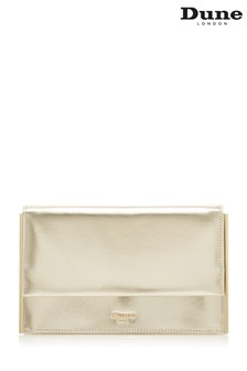 Dune Accessories Gold Slim Metal Edged Clutch Bag