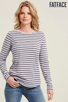FatFace Purple Organic Cotton Breton T-Shirt
