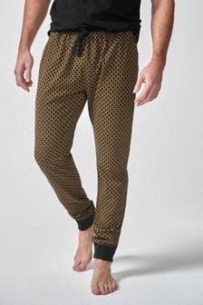 Pattern Cuffed Pyjama Bottoms