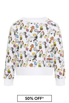 Marc Jacobs Girls White Cotton Sweat Top
