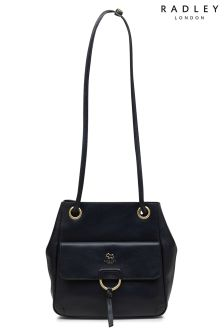 Radley Ink Navy Chester Mews Medium Drawstring Shoulder Bag