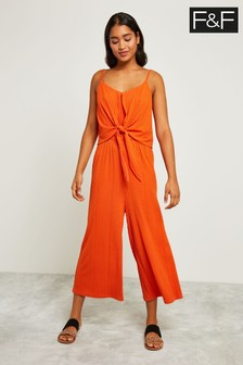 F&F Orange Ring Detail Culotte Jumpsuit