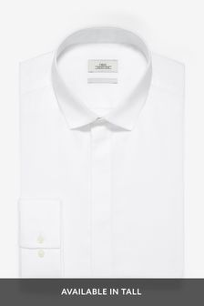 Chemise texturée avec patte de boutonnage dissimulée