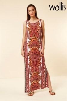Wallis Orange Printed Maxi Dress