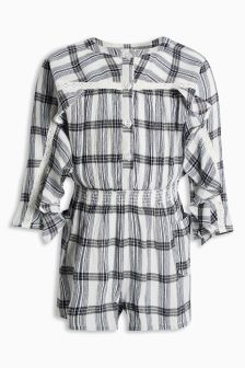Mono Check Playsuit (3mths-6yrs)