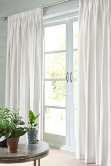 Cotton Studio* Pencil Pleat Lined Curtains