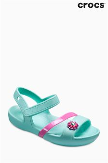 Crocs™ Mint Pink Lina Flower Trim Sandal