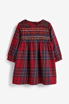 Check Shirred Dress (3mths-7yrs)
