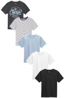 Набор футболок с круглым вырезом (5 шт.)