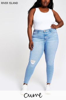 River Island Curve Mid Blue Molly Hoopla Jean