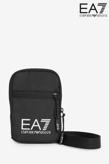 Emporio Armani EA7 Black Small Cross-Body Bag