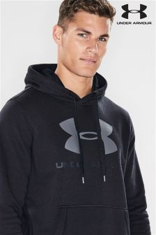 Under Armour Black Rival Fitted Graphic Hoody