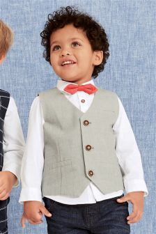 西装背心、衬衫和蝴蝶领结套装 (3个月-6岁)