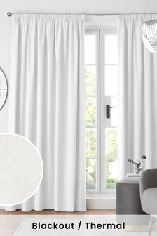 Cotton Pencil Pleat Blackout Thermal Curtains