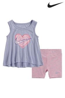 Nike Infant Vest And Space Dye Bike Shorts Set