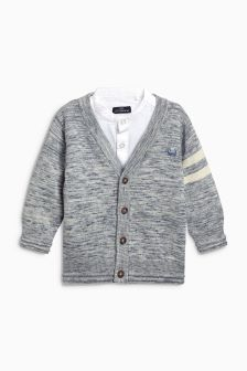 Shirt And Cardigan Set (3mths-6yrs)