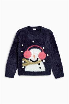 Рождественский джемпер со снеговиком для девочек (3-16 лет)
