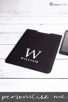 Personalised Black iPad Case by Loveabode